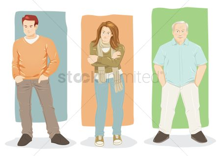 Posing : Set of people