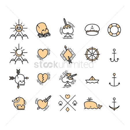 Patterns : Set of pirate design element