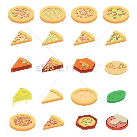 Pizza delivery : Set of pizza icons