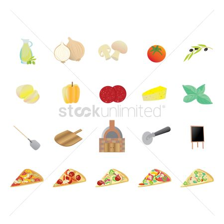 Topping : Set of pizza icons