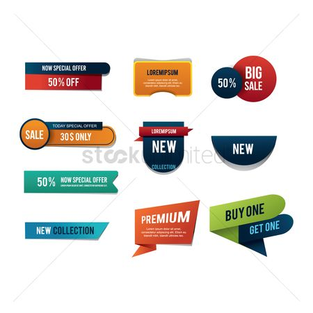 Retails : Set of product label icons
