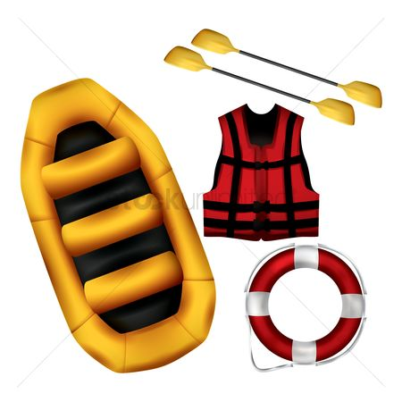 Lifebuoy : Set of rafting icons
