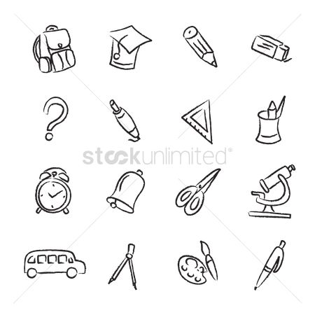 Stationary : Set of school related objects