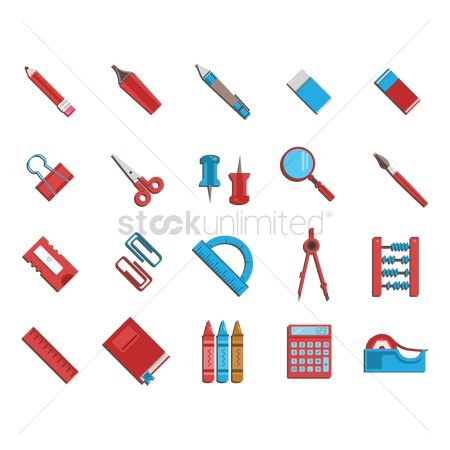 Cutters : Set of school supplies