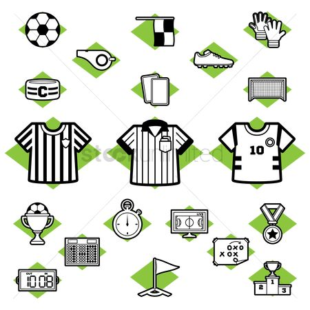 Flag : Set of soccer icons