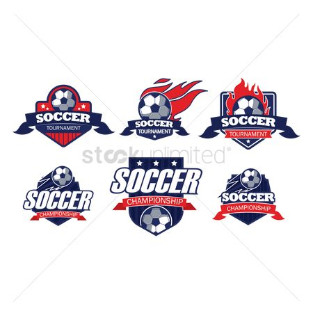 Soccer : Set of soccer logo element icons