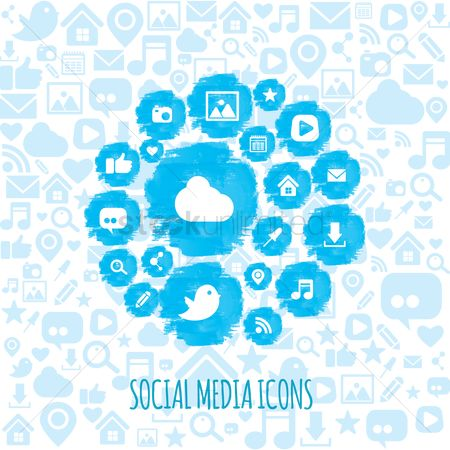 User interface : Set of social media icons