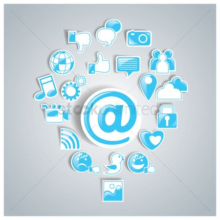 Address : Set of social media icons