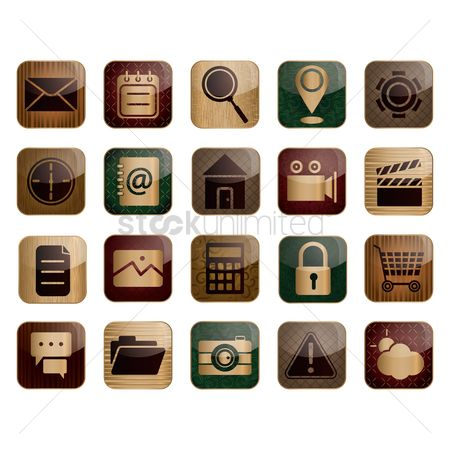 Minute : Set of social media icons
