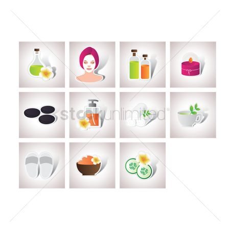 Zen : Set of spa beauty items