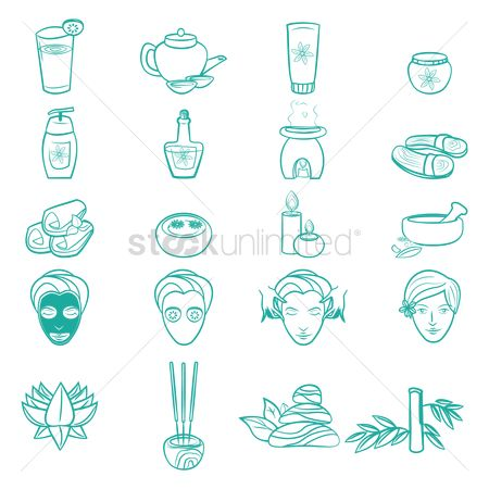 Aroma : Set of spa icons