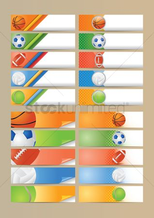 Footballs : Set of sports banners