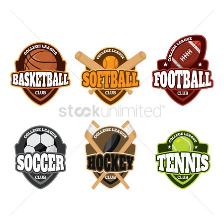 Footballs : Set of sports club logo elements