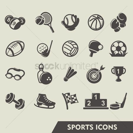 Footwear : Set of sports icons