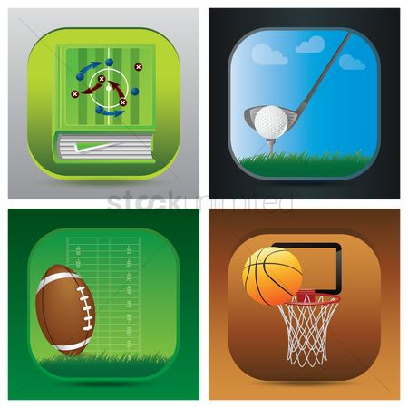 Basket ball : Set of sports icons