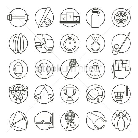 Racket : Set of sports icons