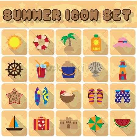 Sail : Set of summer icons