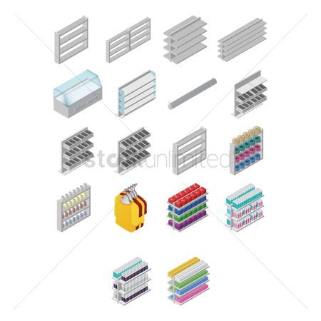 Racks : Set of supermarket racks