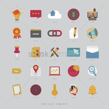 Achievements : Set of technology icons