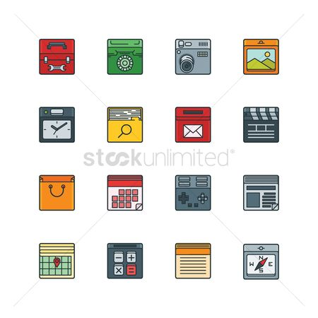 Icons : Set of technology icons