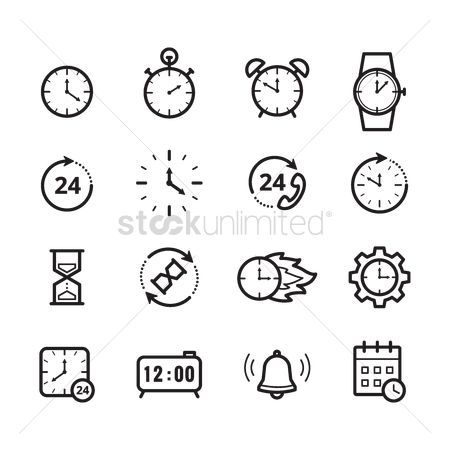 Needle : Set of time icons
