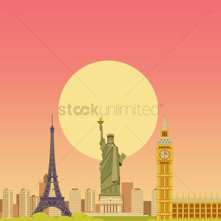 Towers : Set of tourism icons