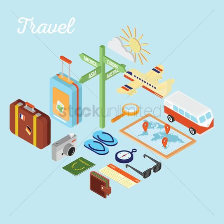 Touring : Set of travel equipment