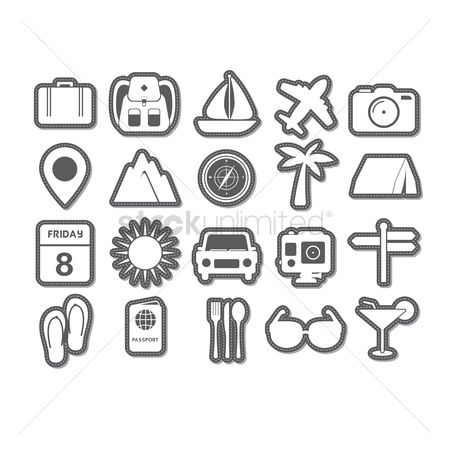 Navigators : Set of traveling icons