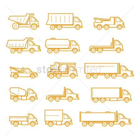 Journeys : Set of truck icons