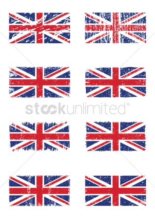 Jack : Set of united kingdom flags