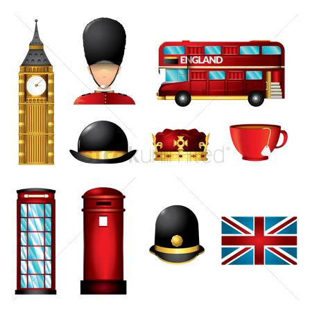 Crown : Set of united kingdom icons