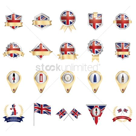 Royal : Set of united kingdom icons