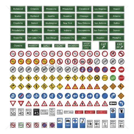 Hospital : Set of us sign boards