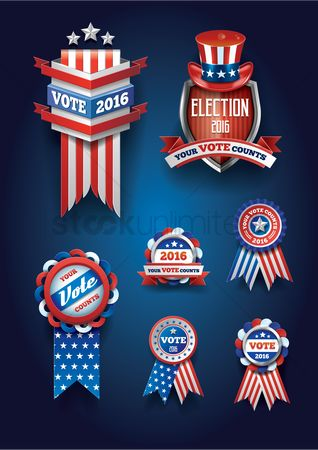 Shield : Set of usa election labels