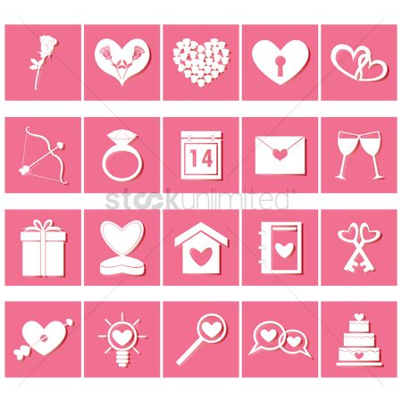 Address : Set of valentine s day icons