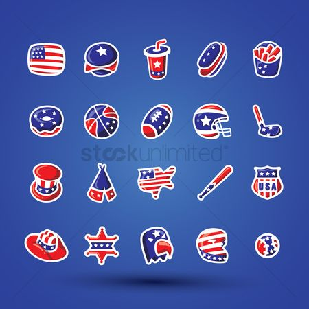 Baseball : Set of various icons