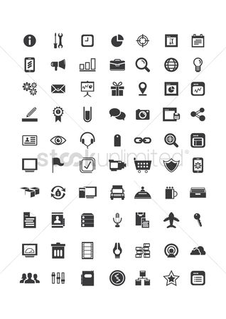 Microphones : Set of various icons