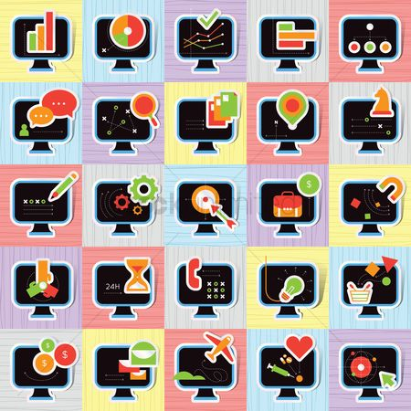Online shopping : Set of various icons