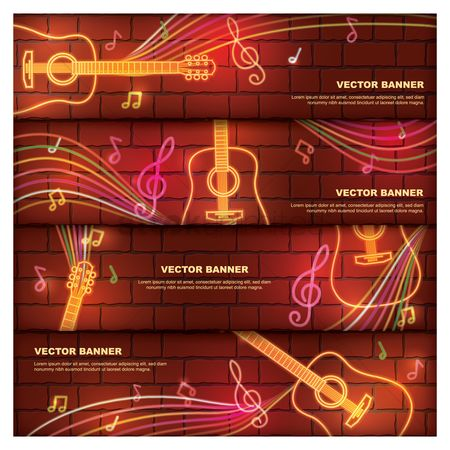 Brick : Set of vector banners