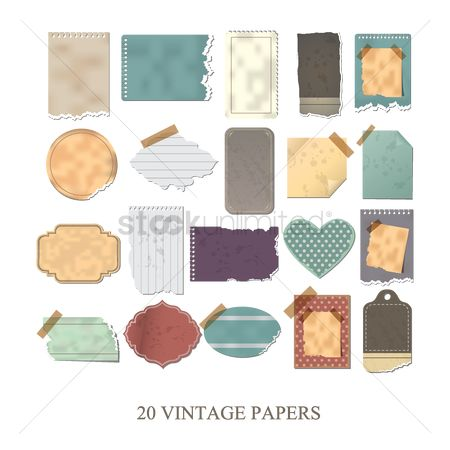 Vintage : Set of vintage papers