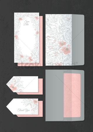Weddings : Set of wedding template designs