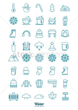 Beer : Set of winter icons
