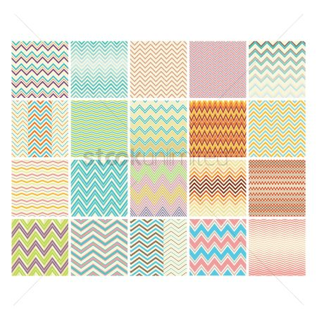 Zig zag : Set of zig-zag backgrounds