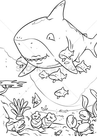 Sketching : Sharks with baby pups