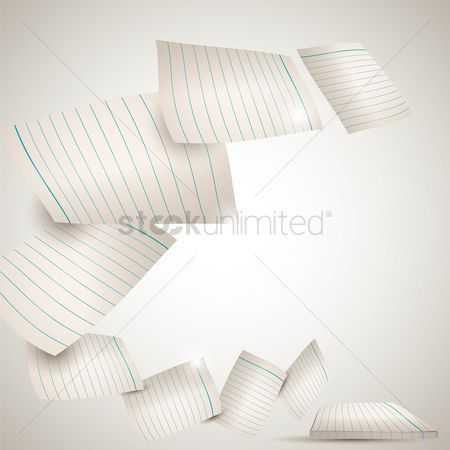 Supply : Sheets of paper flying