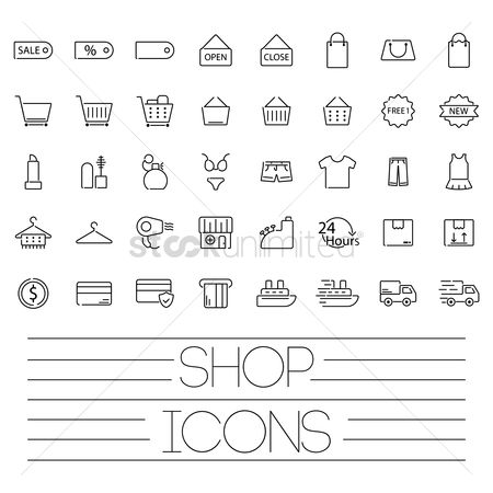Open : Shop icons
