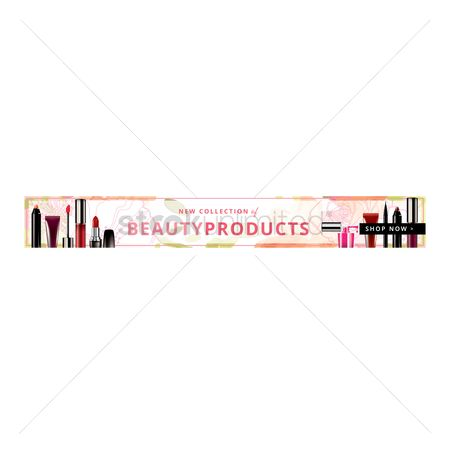 Retails : Shop now beauty products banner