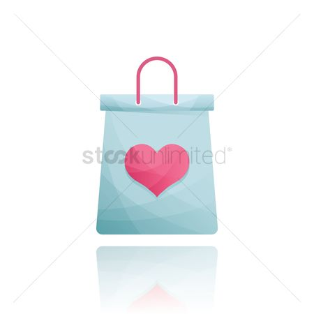 Heart : Shopping bag with a heart
