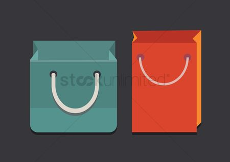 Shopping background : Shopping bags