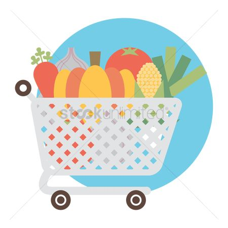 Food cart : Shopping cart